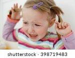 crying little toddler  having a ... | Shutterstock . vector #398719483