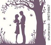 illustration black silhouette... | Shutterstock .eps vector #398734867