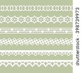 set of seamless paper laces on... | Shutterstock .eps vector #398739973