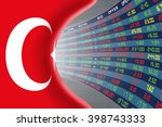 national flag of turkey with a... | Shutterstock . vector #398743333