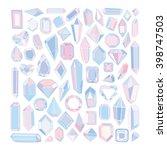 vector hand drawn modern set of ... | Shutterstock .eps vector #398747503