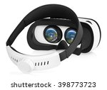 half turned back view of vr... | Shutterstock . vector #398773723