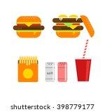 fresh burger vector... | Shutterstock .eps vector #398779177
