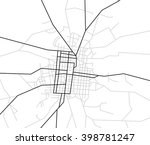map of streets   city | Shutterstock . vector #398781247