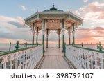 romantic  victorian bandstand...   Shutterstock . vector #398792107