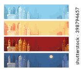 city landscape background set.... | Shutterstock .eps vector #398794657