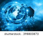 best internet concept of global ... | Shutterstock . vector #398803873