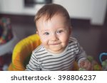 baby boy portrait on the baby... | Shutterstock . vector #398806237