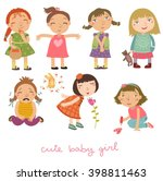 girls vector set | Shutterstock .eps vector #398811463