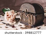 Jewelry Box  Dried Rose And Ol...