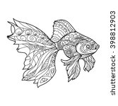 Gold Fish Coloring Book For...