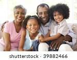 grandparents with grandchildren ... | Shutterstock . vector #39882466