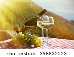 wine and grapes against... | Shutterstock . vector #398832523