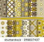 set of abstract vector paper... | Shutterstock .eps vector #398837437