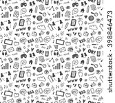 social media sketch vector... | Shutterstock .eps vector #398846473