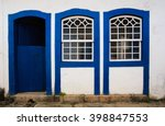 Bright Colored Facade Of House...