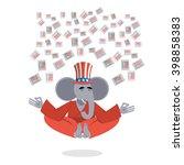 republican elephant hat uncle...   Shutterstock .eps vector #398858383