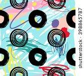 modern kids seamless pattern... | Shutterstock .eps vector #398865787