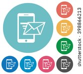 flat sending email icon set on...