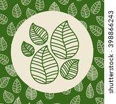 leafs background  design  | Shutterstock .eps vector #398866243