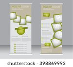roll up banner stand template.... | Shutterstock .eps vector #398869993