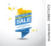 sale banner template design | Shutterstock .eps vector #398877073