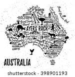typography poster. australia... | Shutterstock .eps vector #398901193