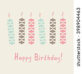 simple birthday card with... | Shutterstock .eps vector #398904463