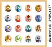 professions icons flat style... | Shutterstock .eps vector #398916697