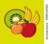 fruits icon design  vector... | Shutterstock .eps vector #398924983