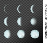 blue moon phases on a... | Shutterstock .eps vector #398946973