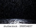 Dark Background Shot Of Rain...