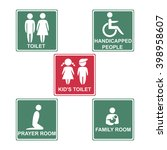toilet  kid's toilet ... | Shutterstock .eps vector #398958607