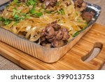 fried liver with onion and...