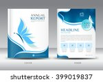 blue annual report template... | Shutterstock .eps vector #399019837