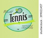 tennis sport theme label | Shutterstock .eps vector #399021457
