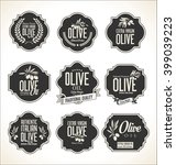 collections of olive oil labels  | Shutterstock .eps vector #399039223