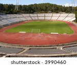 empty soccer stadium   view... | Shutterstock . vector #3990460
