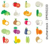 set of vegetables  vector... | Shutterstock . vector #399050233
