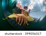 Underwater View Of The Man...