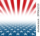 stars and stripes perspective... | Shutterstock . vector #399061213