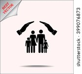 family life insurance sign icon ...   Shutterstock .eps vector #399076873