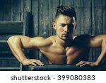 handsome sexy sensual muscular... | Shutterstock . vector #399080383