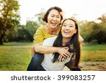 daughter mother adorable... | Shutterstock . vector #399083257