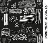 vector pattern with village... | Shutterstock .eps vector #399087127