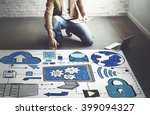 cloud computing network online... | Shutterstock . vector #399094327