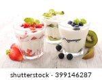yogurt and fruit | Shutterstock . vector #399146287
