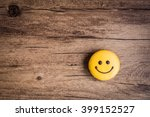 Smiley Face On Wooden...