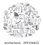 sketch of hand drawn business... | Shutterstock . vector #399156823