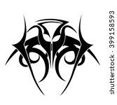 tribal background design  | Shutterstock .eps vector #399158593